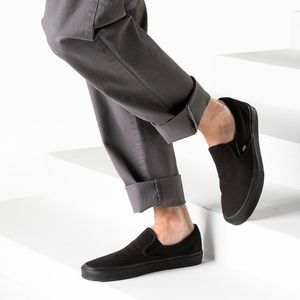 Vans Black On Black Slip On Skate Sneakers NWOB